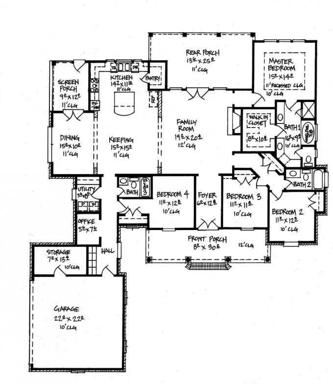 653593 elegant acadian style home house plans floor for Acadian style home plans