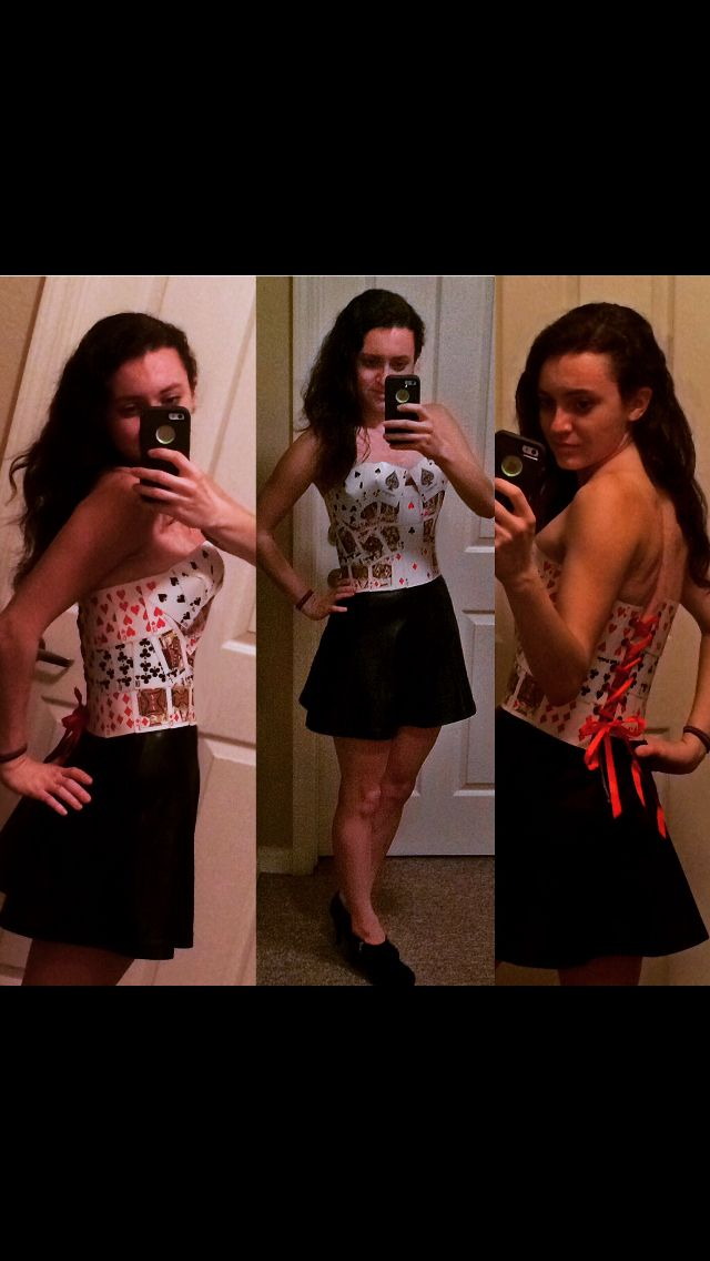 Corset I made entirely from playing cards sewed together!