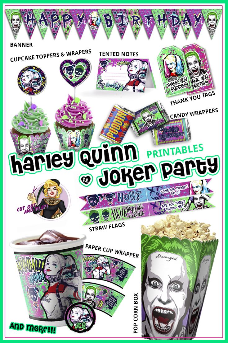 Harley Queen Birthday Party Suicide Squad Party Harley Quinn Party