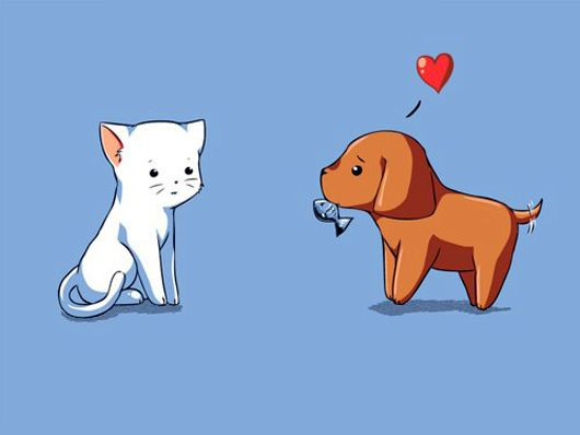 Kitty And Puppy Lovely Digitally Drawn Picture Kitten Drawing Baby Cats Pictures To Draw
