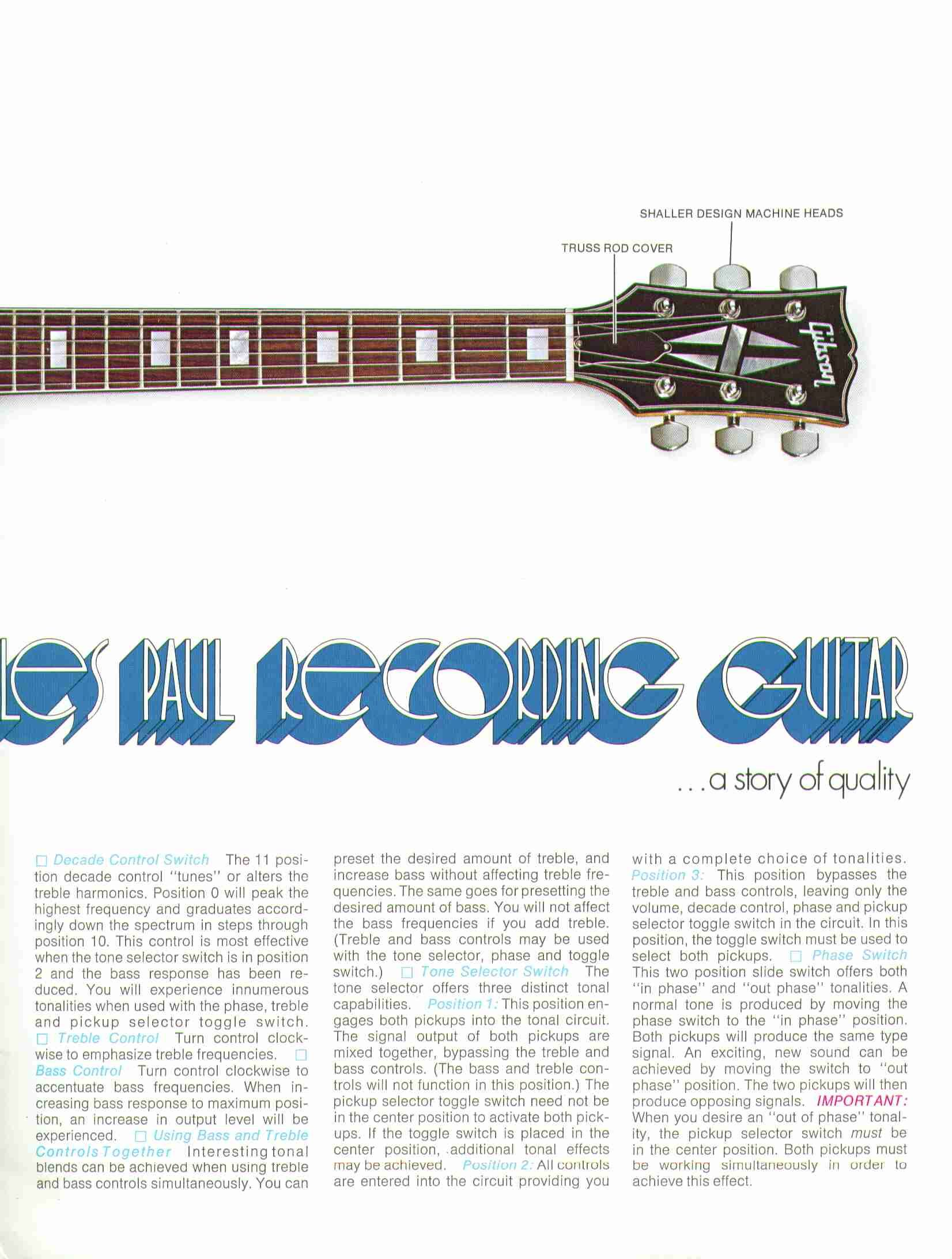 Sales flyer for Gibson Les Paul Recording