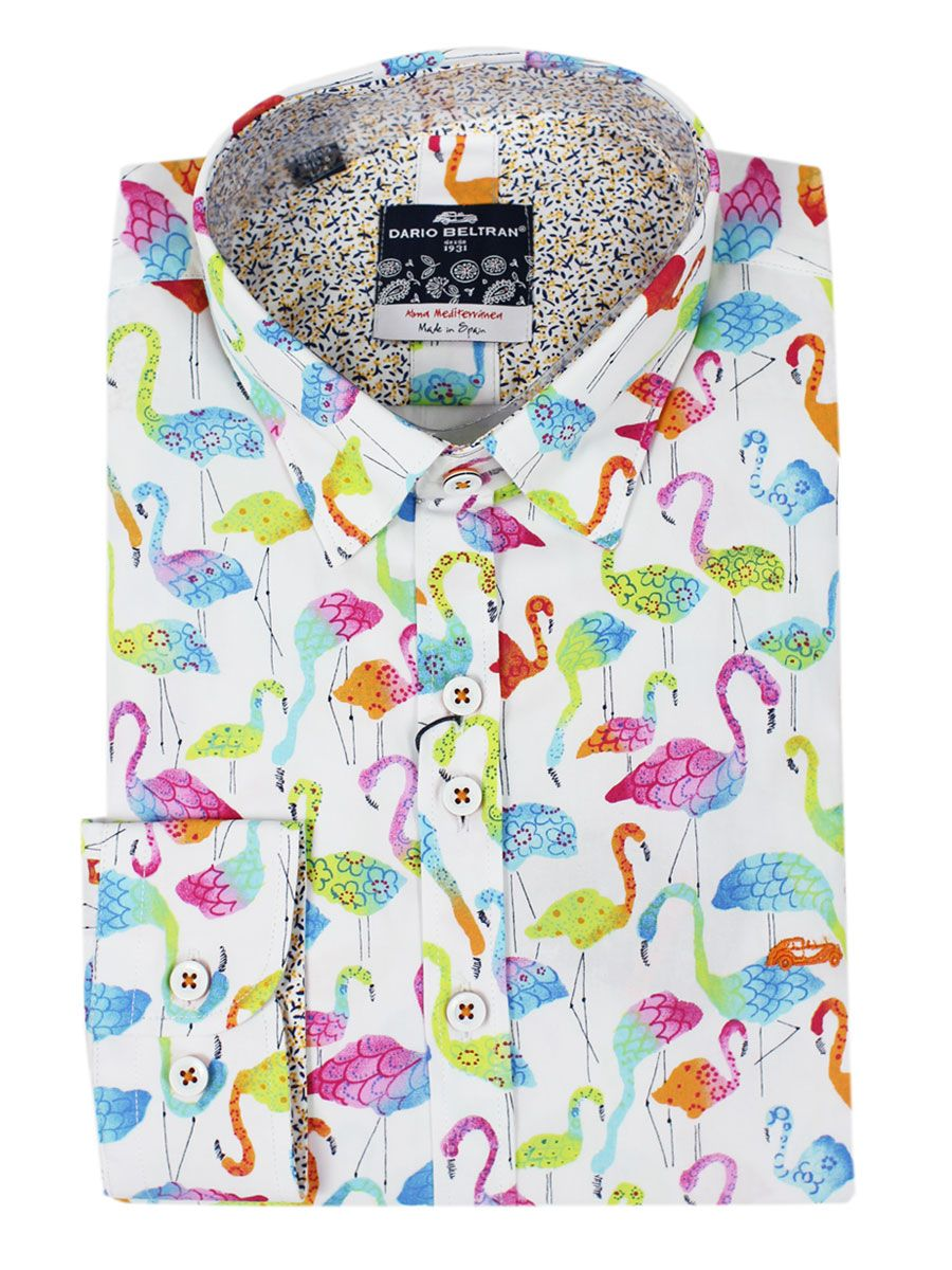 4fbb2b2b Dario Beltran have outdone themselves with this striking print tailored  shirt. Features include a cut