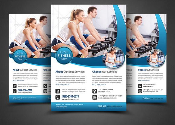 Fitness Flyer - Gym Flyer by AfzaalGraphics on @creativemarket - fitness flyer