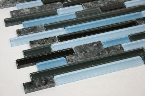 Kitchen Backsplash Glass Mosaic Tiles Blue Pearl Granite Granite Tile