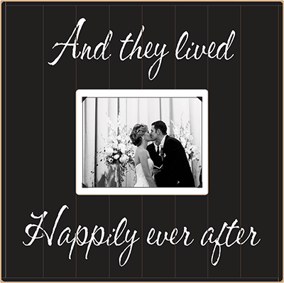 and they lived happily ever after solid wood beadboard frame 15x15