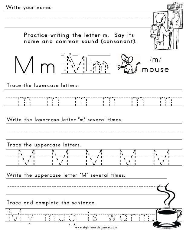 letter m worksheet 1 letters of the alphabet kindergarten worksheets letter m worksheets. Black Bedroom Furniture Sets. Home Design Ideas