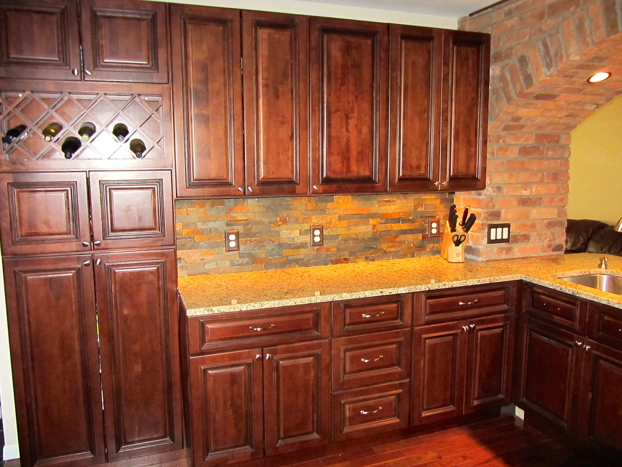 Custom Made Shallow Depth Pantry Created Using Our Brandywine Wall Cabinets Stacked On Top Of Ea Kitchen Cabinets Rta Kitchen Cabinets Maple Kitchen Cabinets
