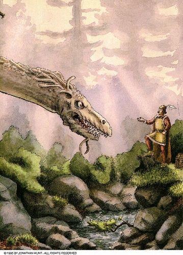 A dragon and a prince
