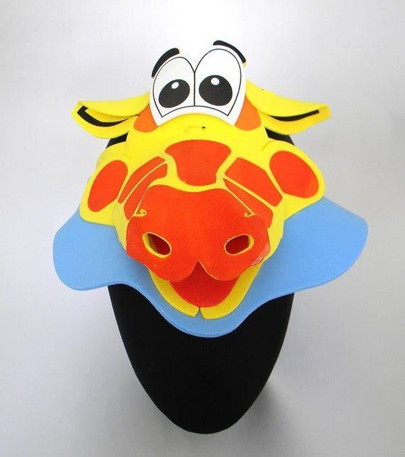 0eb035d0 Giraffe Animal Zoo Farm Foam Visor Hat Cap Costume Party Fancy Dress Photo  Booth Prop Set Birthdays