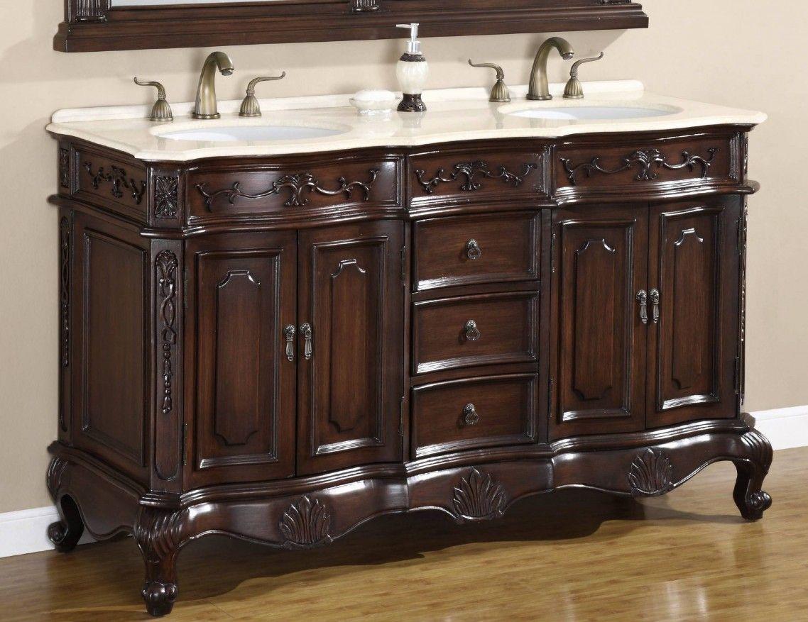 Bathroom Vanities Chicago Classic High Gloss Dark Stone Sinks