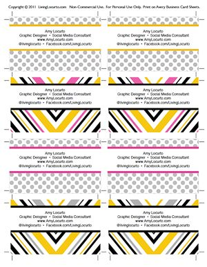 Free printable business card templates from living locurto free printable business card templates from living locurto wajeb Choice Image