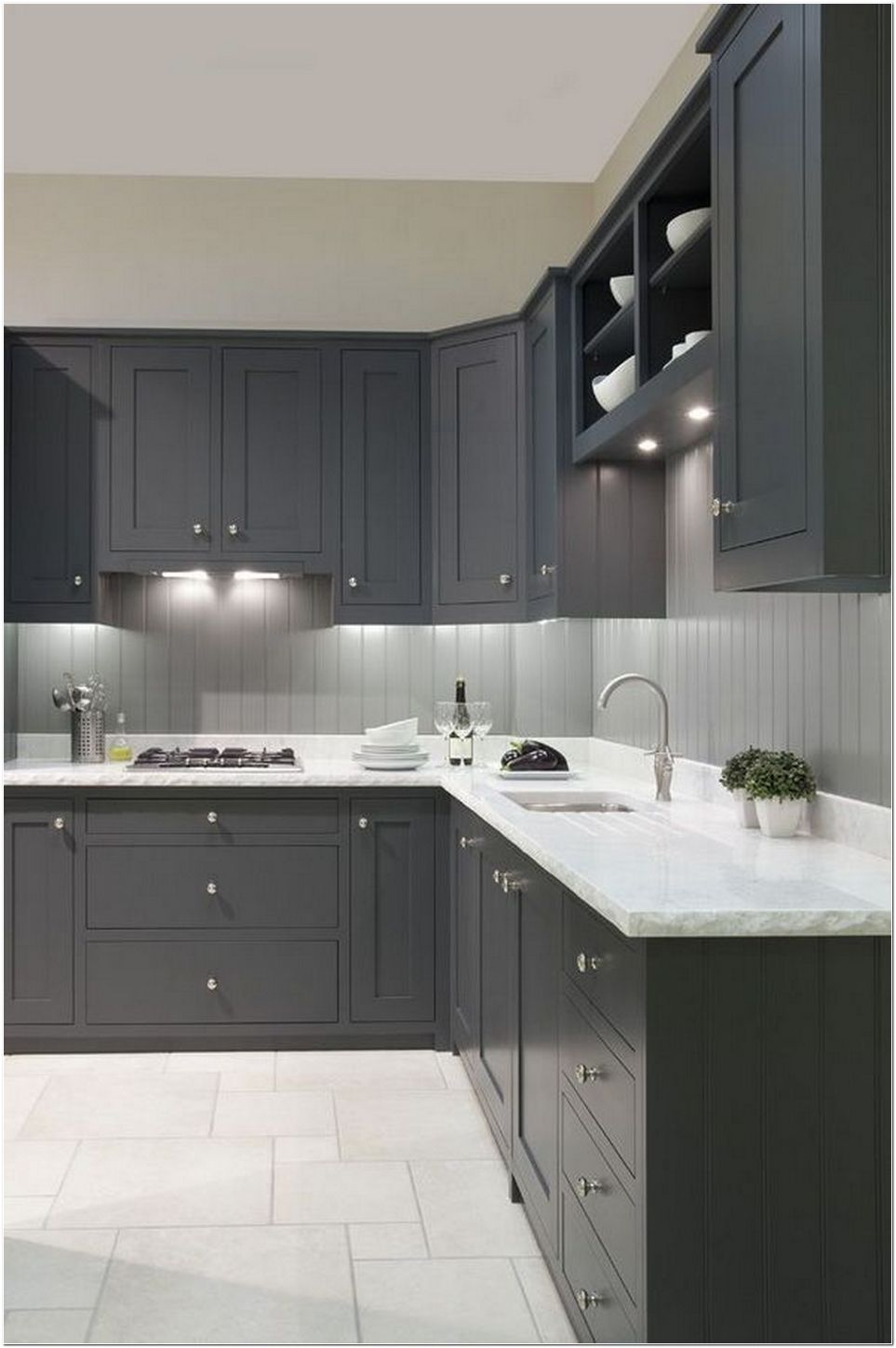 65+ The Battle Over Gray Kitchen Cabinets Painted Sherwin ...