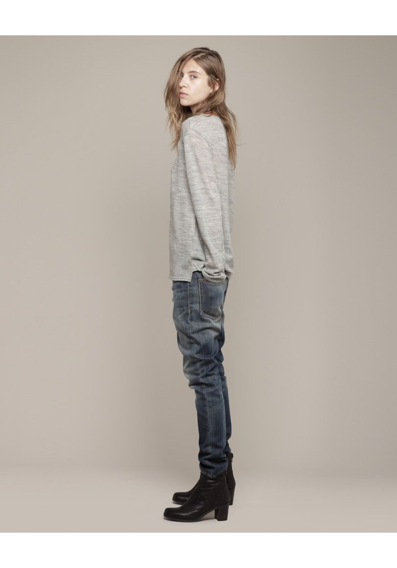 How to skinny wear slouch jeans