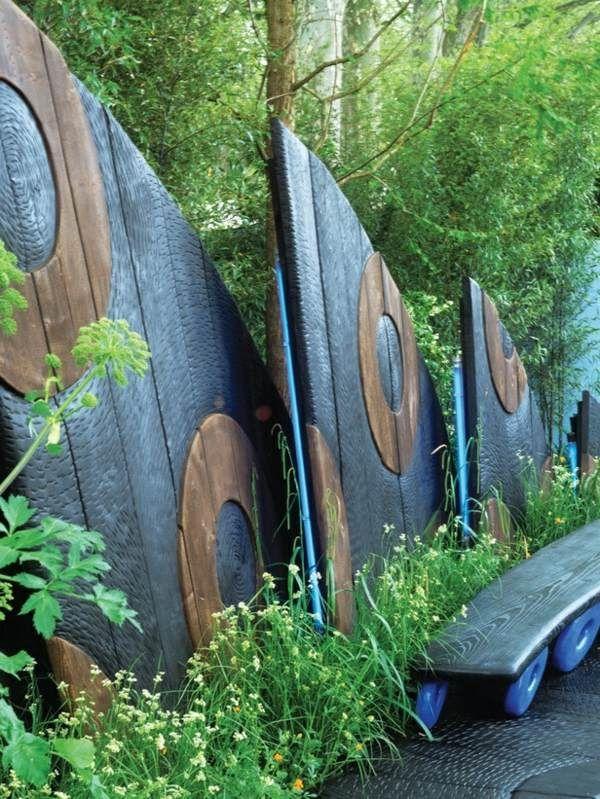 Garten Zaunbau Kunstvoll Design Idee | Zaun | Pinterest | Gärten ... Kunstvolle Gartengestaltung Ideen