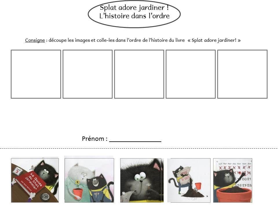 splat adore jardiner le livre de sapienta ecole theme chat cats et album. Black Bedroom Furniture Sets. Home Design Ideas