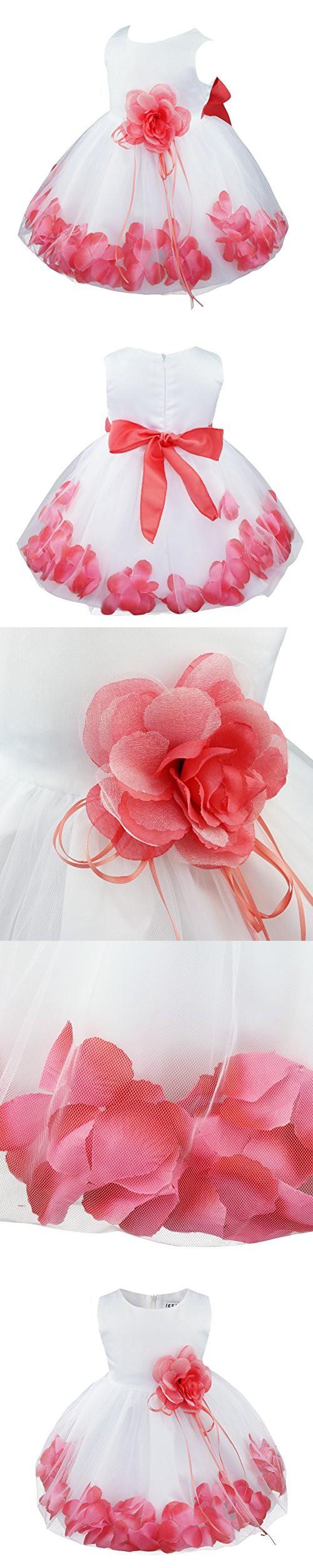 ebc8b6b5dcc1 TIAOBU Baby Girls Flower Petals Tulle Formal Bridesmaid Wedding ...
