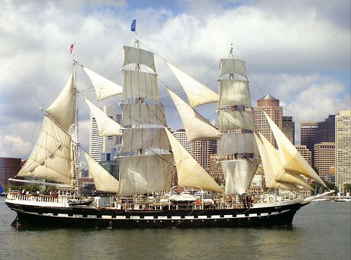 """Three-masted barque """"Belem"""", 1896. Restored by The Belem Foundation, 1980. Photo by Thad Koza, 2007"""