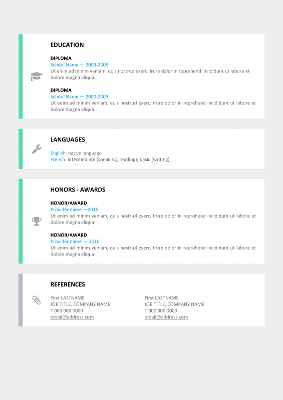 Le Marais Free Modern Resume Template For Word Docx  Nd Page
