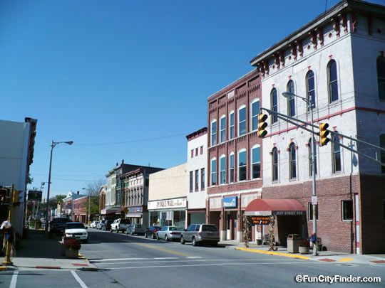 Picture Of Jefferson Street In Downtown Franklin Indiana
