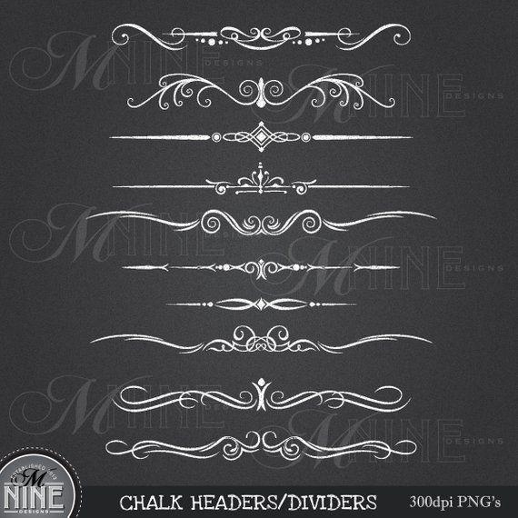 chalkboard clipart chalk clip art headers design elements