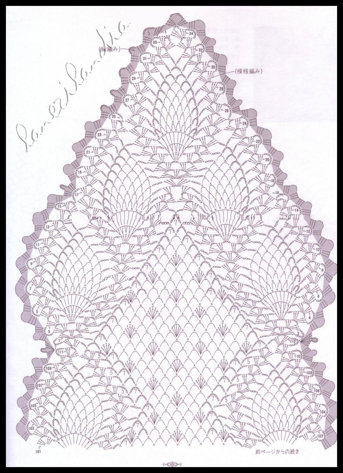 El recetario de Lanezi: Camino de mesa de piñas | craft & crochet ...