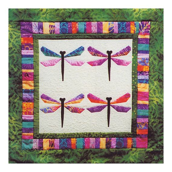 BALI DRAGONFLY Quilt Pattern – Foundation Paper Piecing Technique ... : dragonfly quilt - Adamdwight.com