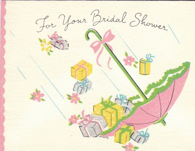 A lovely 1940s bridal shower greeting card cards wedding vintage a lovely 1940s bridal shower greeting card cards wedding vintage m4hsunfo
