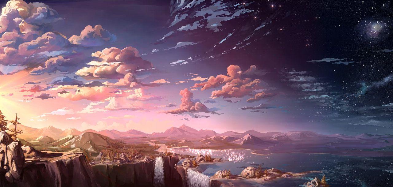 Waterfall sunset by MasterTeacher on DeviantArt