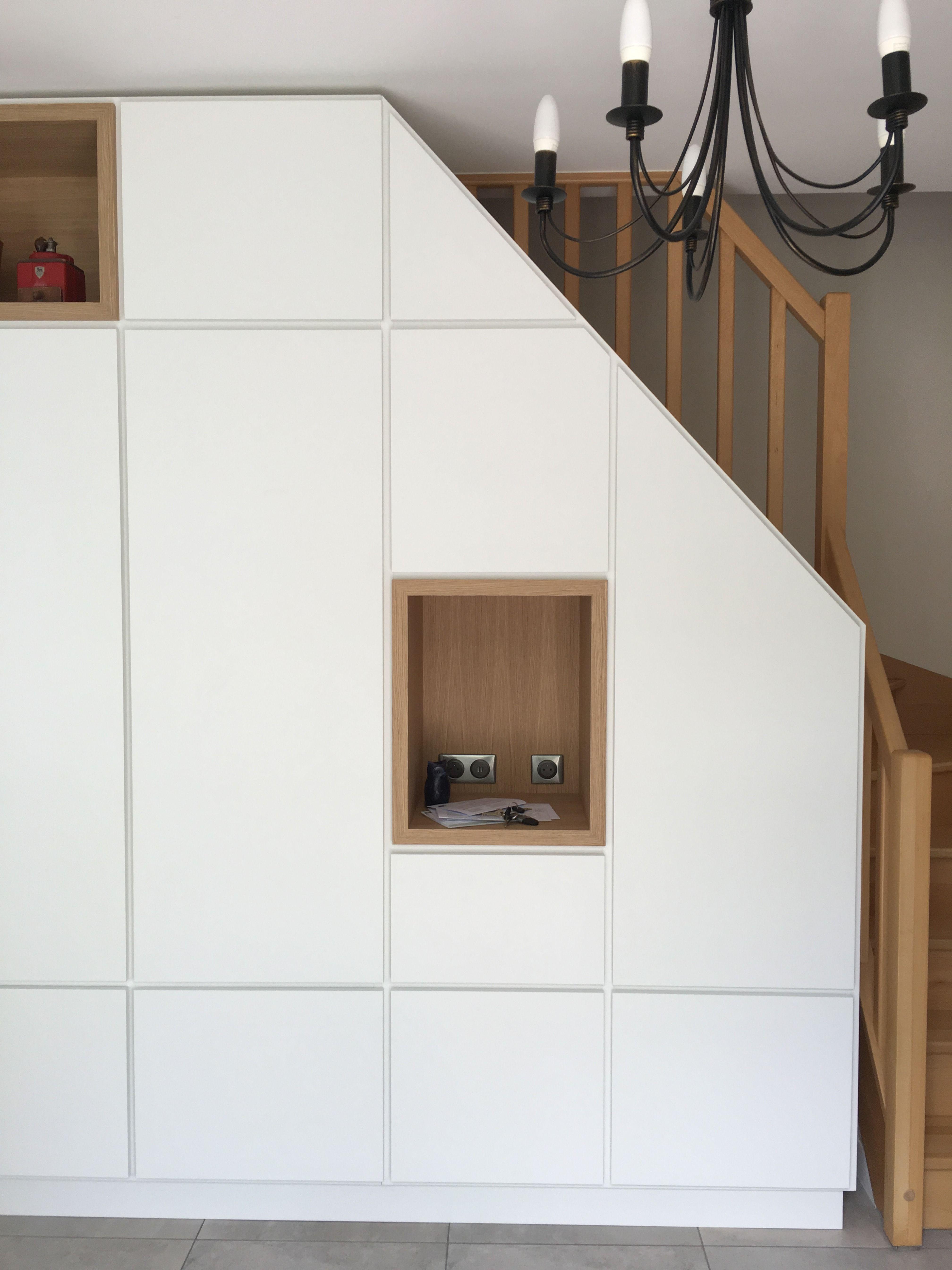 Refaire Escalier Trop Raide agencement sur mesure, meuble sous escalier. zone de