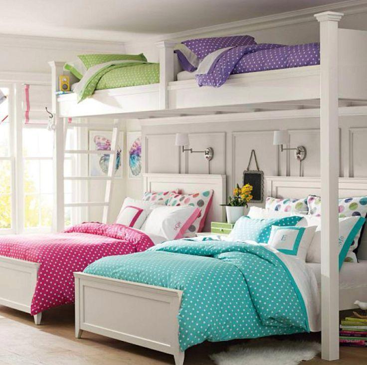 Loft beds pinterest sleepover bunk beds my dream house pinterest sleepover bunk bed and - Beautiful bunk bed teens ...