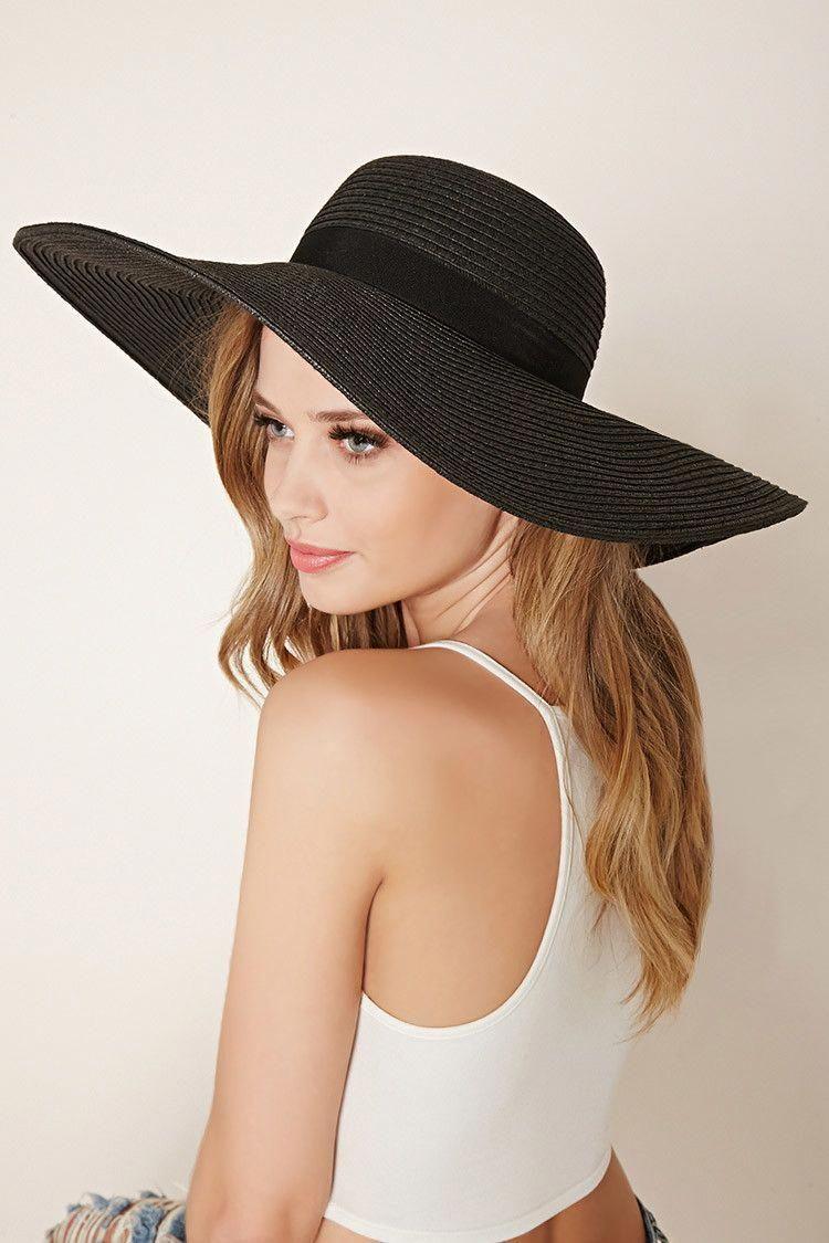 283ab4c7069 ... Hats For Women Fancy Ideas. Grosgrain-Band Floppy Straw Hat   hatsforwomenboater