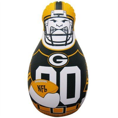 Green Bay Packers 40 Inflatable Tackle Buddy Punching Bag Green Bay Packers Clothing Nfl Packers Green Bay Packers Merchandise