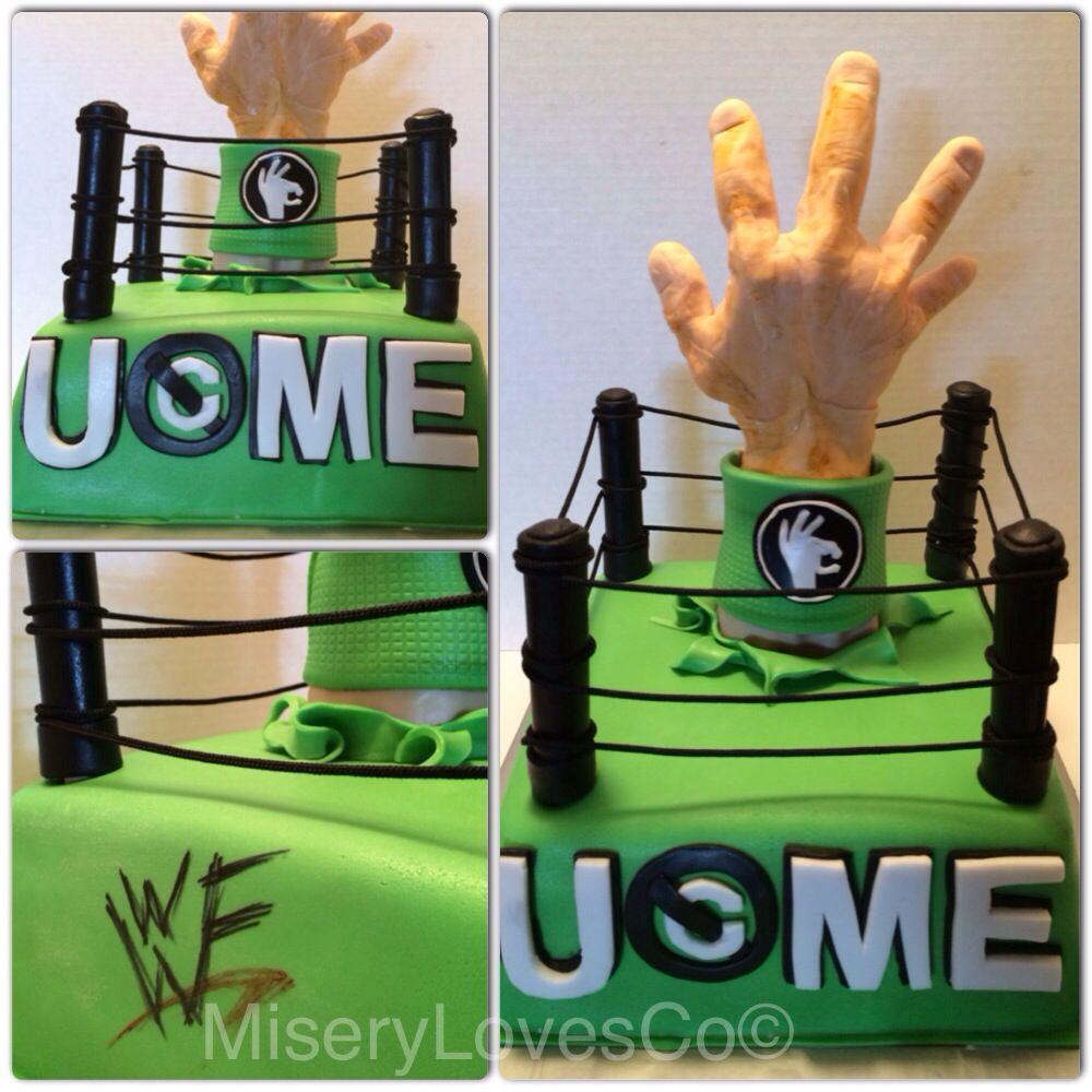 The John Cena U cant C me Themed cake WWF all edible WWE RAW