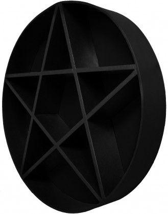 PENTAGRAM SHELF Black 1 Gothic decor bedroom, Goth