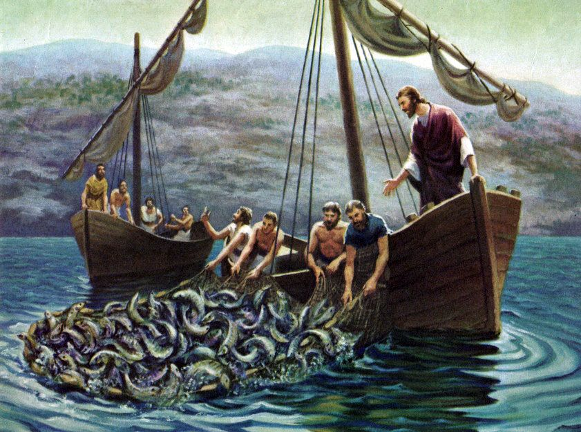 "Luke 54b6 Jesus said to Peter, ""Put out into the deep"