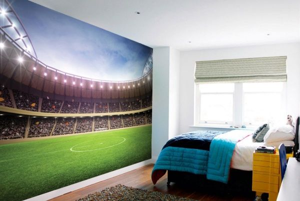 Football Pitch Wall Mural Wallpaper Ws 42395: 15 Epic Wall Murals For Your Space