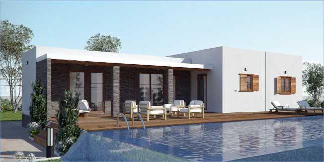 Casa prefabricada de madera cubik146m2 viviendas grupoelcid casas prefabricadas casas - Vivir en una casa prefabricada ...