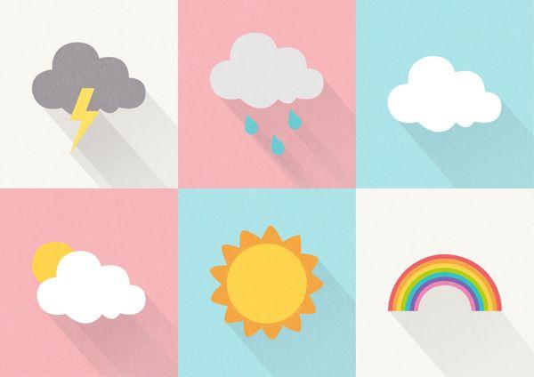 Weather Icons By Lena Goh Via Behance Weather Icons Adobe Illustrator Graphic Design Iphone Icon