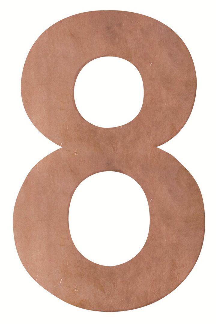 Robert Plumb Number & Letters -Wall Mounted Copper  #createmyinterior armadillo & co @Inadesignerhome Idh