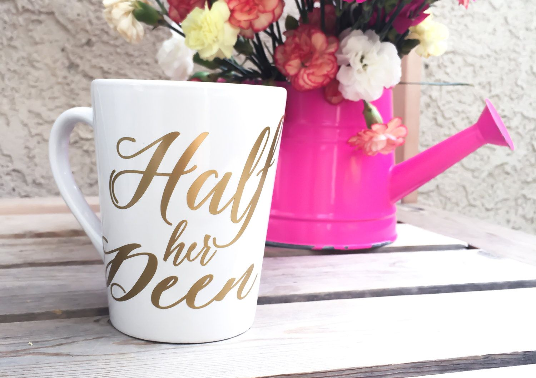 Half her Deen Coffee Mug - Couples Mug - Muslim Wedding - Gold and ...
