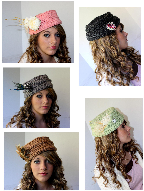 Crochet Pillbox Hats https://www.facebook.com/groups ...