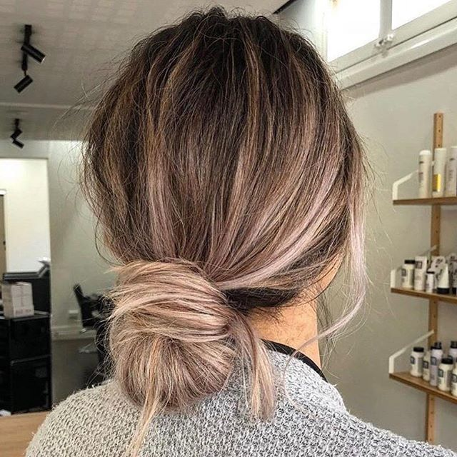 Simple updo hairstyle