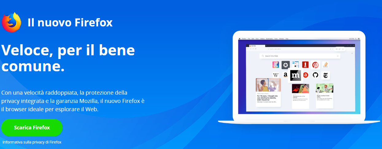 Disponibile Firefox 61 Browser