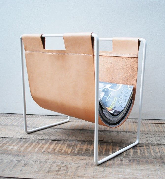 Leather Magazine rack D E T A I L Pinterest Objet, Cuir et