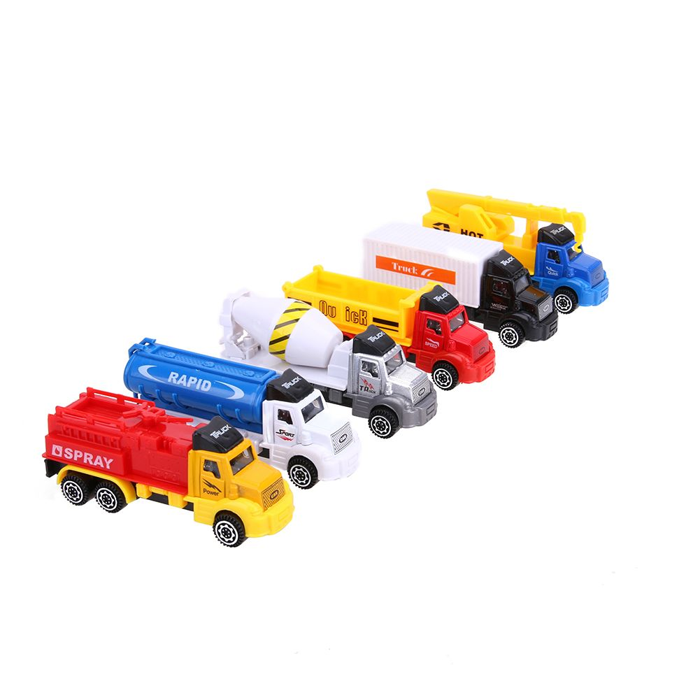 6pcs Lot Mini Pull Back Alloy Toy Car Model New Fun Kids Children  # Modele Banc En Bois