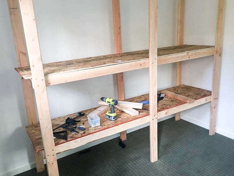 How To Build Storage Shelves For Less Than 75 Storage Shelves Diy Storage Shelves Wooden Garage Shelves