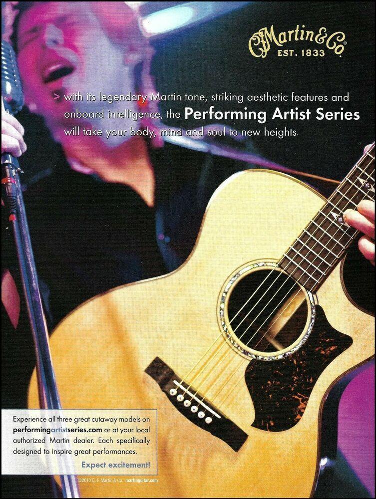 Martin Performing Artist Series Cutaway Acoustic Guitar 2010 Advertisement Print Martin In 2021 Performance Artist Martin Acoustic Guitar Guitar