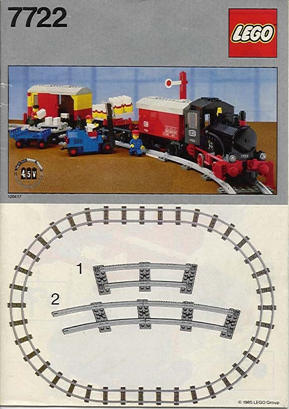 Lego Steam Cargo Train Set 7722 Lego Instructions Pinterest