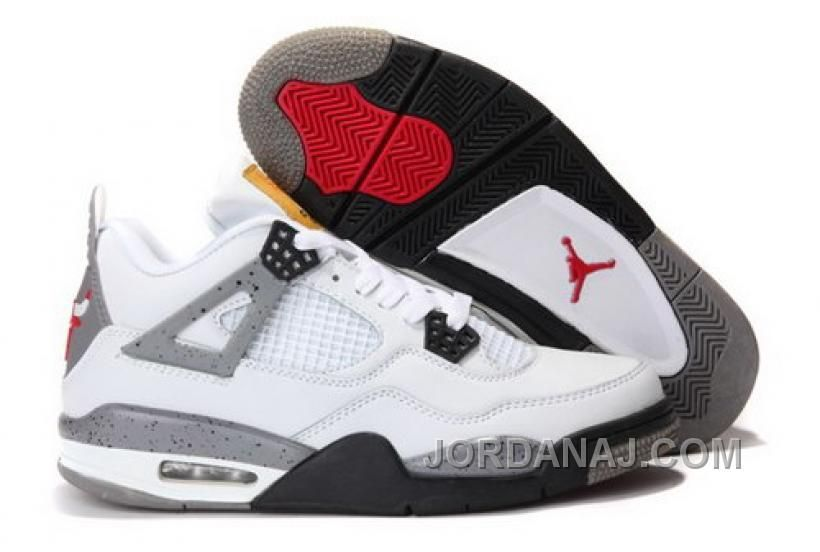 save off 4038c 003d7 NORWAY NIKE AIR JORDAN IV 4 CEMENST RETRO MENS SHOES CHICAGO BULLS WHITE  Only 81.90€ , Free Shipping!