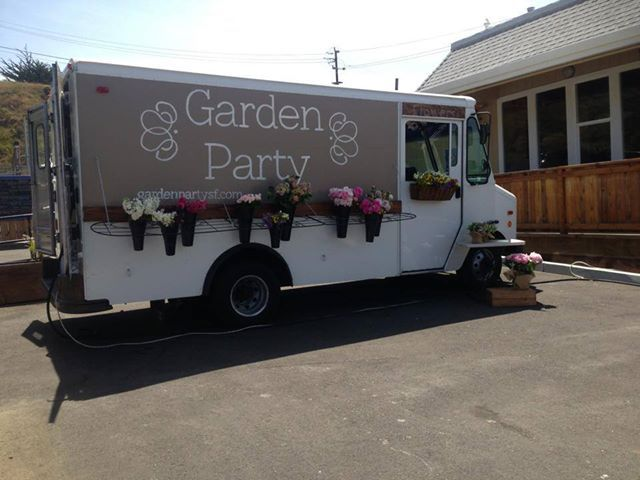 MY DAUGHTER AMY HAS HER BEAUTIFUL MOBILE FLOWER TRUCK CALLED GARDEN PARTY